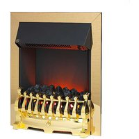 Redbridge Brass Electric Fire by Katell