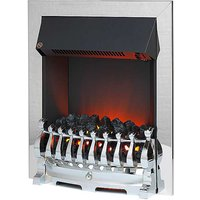 Redbridge Chrome Electric Fire by Katell