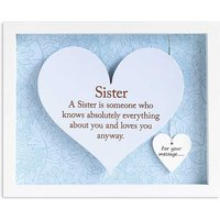 Sister - Heart Frame by Said With Sentiment