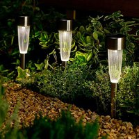 Solar Powered Fluted Stainless Steel 10pk Lights