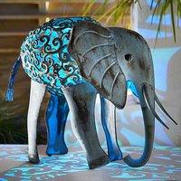 Solar Powered Metal Elephant