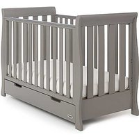 Stamford Grey Mini Cot Bed with Drawer by OBaby
