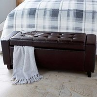 Verona Faux Leather Blanket Box Ottoman