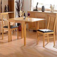 Vienna Oak Effect Table & 2 Chairs Dining Set