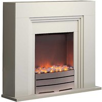 York Ivory Fireplace Suite by Warmlite