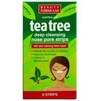 'Beauty Formulas Tea Tree Deep Cleansing Nose Pore Strips 6 Pcs