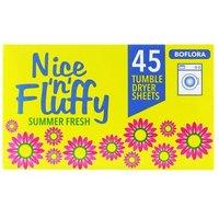 'Boflora Nice 'n' Fluffy Tumble Dryer Sheets 45 Pcs