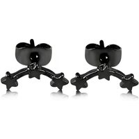 'Everneed Cassiopeia Star Earrings Black 1 Pair