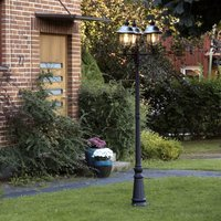 Parma post light 3 bulb  stainless steel roof