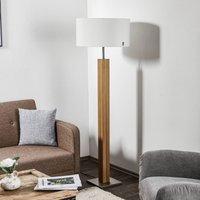 HerzBlut Dana floor lamp  natural oak  white