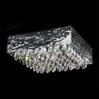 MAGMA ceiling light clear crystal elements 51x51cm