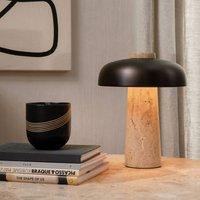 Menu Reverse LED table lamp  travertine base
