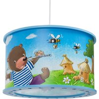 25 40 Bear with Fishing Rod hanging light  blue