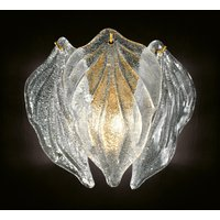 Exclusive glass wall light Foglie  Murano glass
