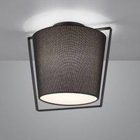 Helestra Uka ceiling lamp  black fabric lampshade