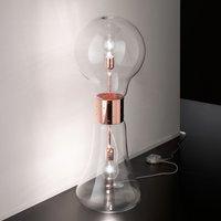Extravagant floor lamp Dina made of glass