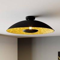 Schwarz-goldene Deckenlampe Emilienne