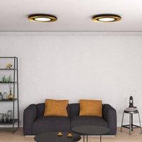 Shiitake LED ceiling light  black   gold