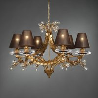 Foliage   noble chandelier with leaf decoration