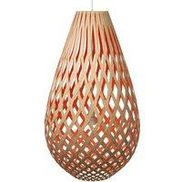 david trubridge Koura pendant lamp 75cm bamboo red