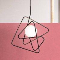 Ingenious designer hanging light Inciucio  black