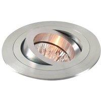 Pivotable aluminium recessed light  matt aluminium
