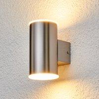 LED-Außenwandleuchte Morena aus Edelstahl 2fl.