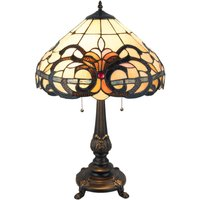 5924 table lamp  glass lampshade  Tiffany style