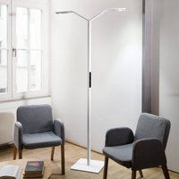 Luctra Floor Twin Linear LED floor lamp white