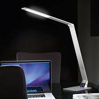 Flat LED desk lamp Wasp made of aluminium