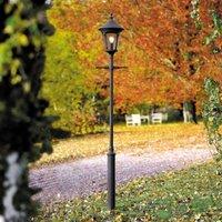 Virgo post light  1 bulb  matt black