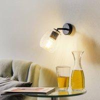 Casablanca Bagan variable wall lamp  bubble glass