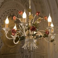 ANCONA noble chandelier with roses
