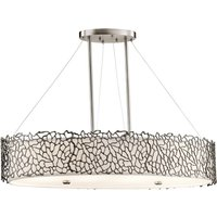 Silver Coral oval pendant light