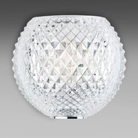 Patterned Diamond and Swirl crystal wall light