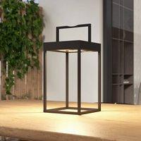 Lucande Lynzy LED solar light  black  38 3 cm
