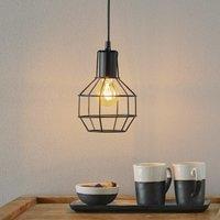 Plex hanging light  grid lampshade 15 cm diameter