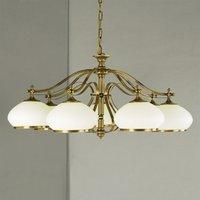 Empira Hanging Light Seven Bulbs Old Brass