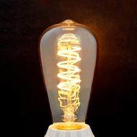 E27 LED rustic bulb Curved Line 4W  2 200 K  amber