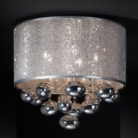 Andr meda LED ceiling light with hanging elements