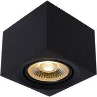 LED plafondspot Fedler hoekig zwart