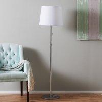 Height adjustable fabric floor lamp Amsterdam