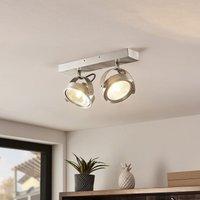 ELC Mitella ceiling spotlight  2 bulb  aluminium