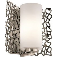 Extravagantly designed wall light Silver Coral