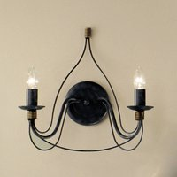 Two bulb blue black wall light FILO