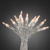 Warmweiß leuchtende Minilichterkette LED 100-flg