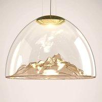 Axolight Mountain View hanging light amber gold