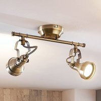 2 bulb Perseas LED ceiling light  GU10
