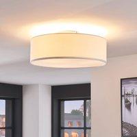 Cream coloured fabric ceiling light Sebatin