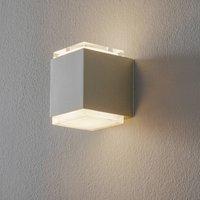 BEGA 50063 LED wall light 3 000 K 9 cm palladium